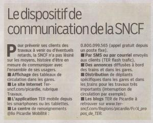 le parisien 19 avril 13 TER Picardie infos travaux