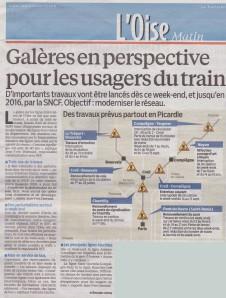 le parisien 19 avril 13 TER Picardie travaux